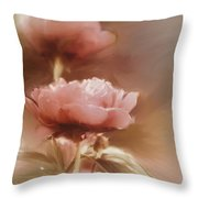 Soft Flower Digital Painting Throw Pillow