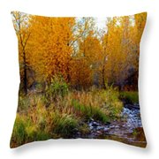 Soft Forest Colors Throw Pillow