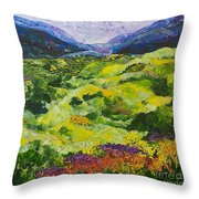 Soft Grass Throw Pillow