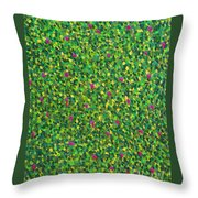 Soft Green With Pink  Throw Pillow