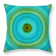Soft Healing - Energy Art By Sharon Cummings Throw Pillow by Sharon Cummings