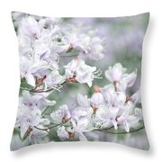 Soft Lavender Dancing Azalea Flowers Throw Pillow