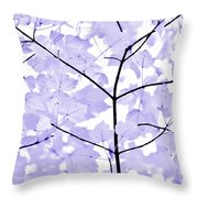Soft Lavender Leaves Melody Throw Pillow