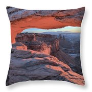 Soft Light On The Rocks Throw Pillow
