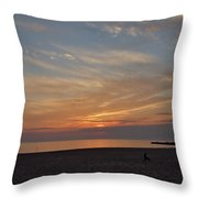 Soft Orange Sunset Throw Pillow