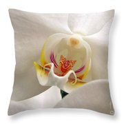 Soft Orchid Throw Pillow