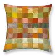 Soft Palette Rustic Wood Series Lll Throw Pillow