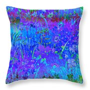 Soft Pastel Floral Abstract Throw Pillow