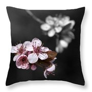 Soft Pink Blossom Throw Pillow