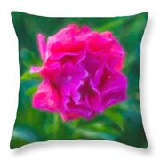 Soft Pink Peony Throw Pillow