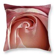 Soft Pink Rose Throw Pillow