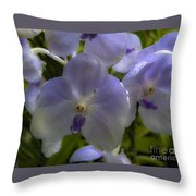 Soft Purple Orchids Throw Pillow