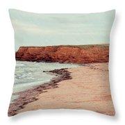 Soft Rain On The Beach Throw Pillow