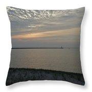 Soft Silver Sunset Throw Pillow