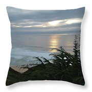 Soft Silvery Pacific Sunset Throw Pillow