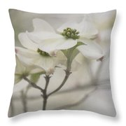 Soft Texture Of Spring Throw Pillow