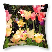 Soft Spring Colors Throw Pillow