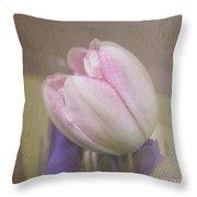 Softly Tulip Throw Pillow