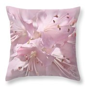 Softness Of Pink Pastel Azalea Flowers Throw Pillow
