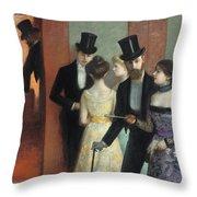 Soiree At The Opera Throw Pillow
