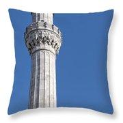 sokullu pasa camii Mosque minaret Throw Pillow