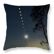 Solar Eclipse Composite, Queensland Throw Pillow
