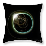 Solar Eclipse With Fractal Throw Pillow