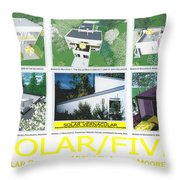 Solar Five Throw Pillow