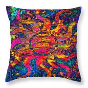 Solar Flair Throw Pillow