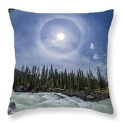 Solar Halo Over Natural Bridge, Yoho V1 Throw Pillow