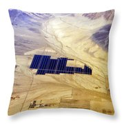 Solar Panels Aerial View Throw Pillow