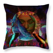 Solar Night Throw Pillow