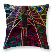 Solar Rainbow Throw Pillow