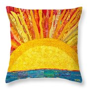 Solar Rhythms Throw Pillow by Susan Rienzo