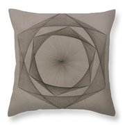 Solar Spiraling Throw Pillow