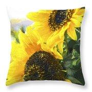 Solar Sunflowers Throw Pillow