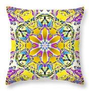 Solar Sunstar Throw Pillow by Derek Gedney