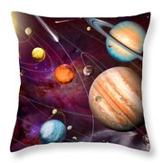 Solar System 2 Throw Pillow