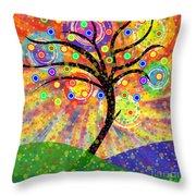 Solar Tree Throw Pillow