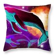 Solar Whales Throw Pillow