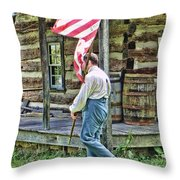 Soldier At Bedford Village Pa Throw Pillow