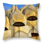 Soldier Chimneys Throw Pillow