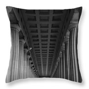 Soldier Field Colonnade Chicago B W B W Throw Pillow