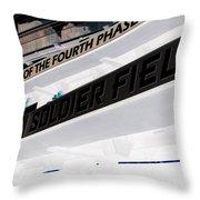 Soldier Field Throw Pillow