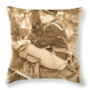 Soldier On Horse Throw Pillow