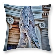 Soldier Statue Hdr Alabama State Capitol Throw Pillow