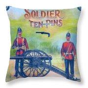 Soldier Ten-pins Throw Pillow