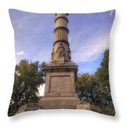 Soldiers And Sailors Monument - Boston Throw Pillow by Joann Vitali