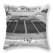 Soldier's Field Boxing Match Throw Pillow
