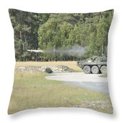 Soldiers Fire A Tow Missile Throw Pillow